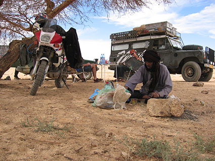 Break while traveling Sahara