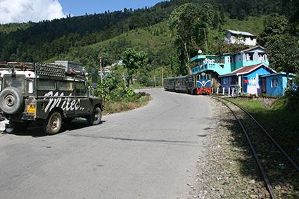 Berg op naar Darjeeling India