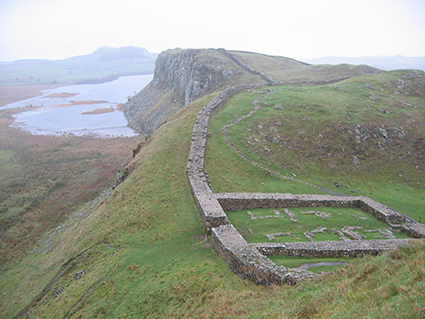 Romeinse muur in noord Engeland